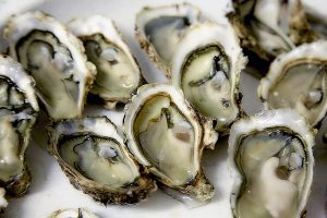 oysters are a good source of zinc which has been shown to improve leaky gut