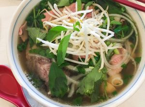 pho broth is basically bone broth with lots of l-glutamine that helps heal leaky gut
