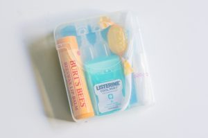 a pocket sized travel essentials kit to make flying more comfortable