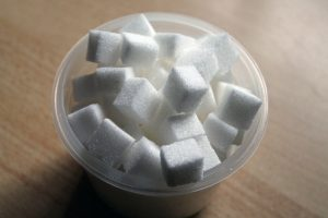 a bowl od sugar cubes, helpful for visualizing 20 parts per million of gluten