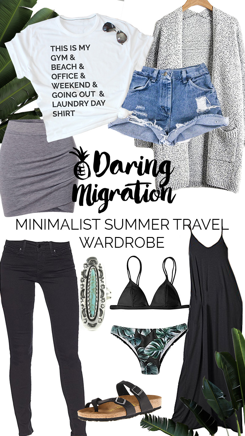 minimalist summer travel wardrobe