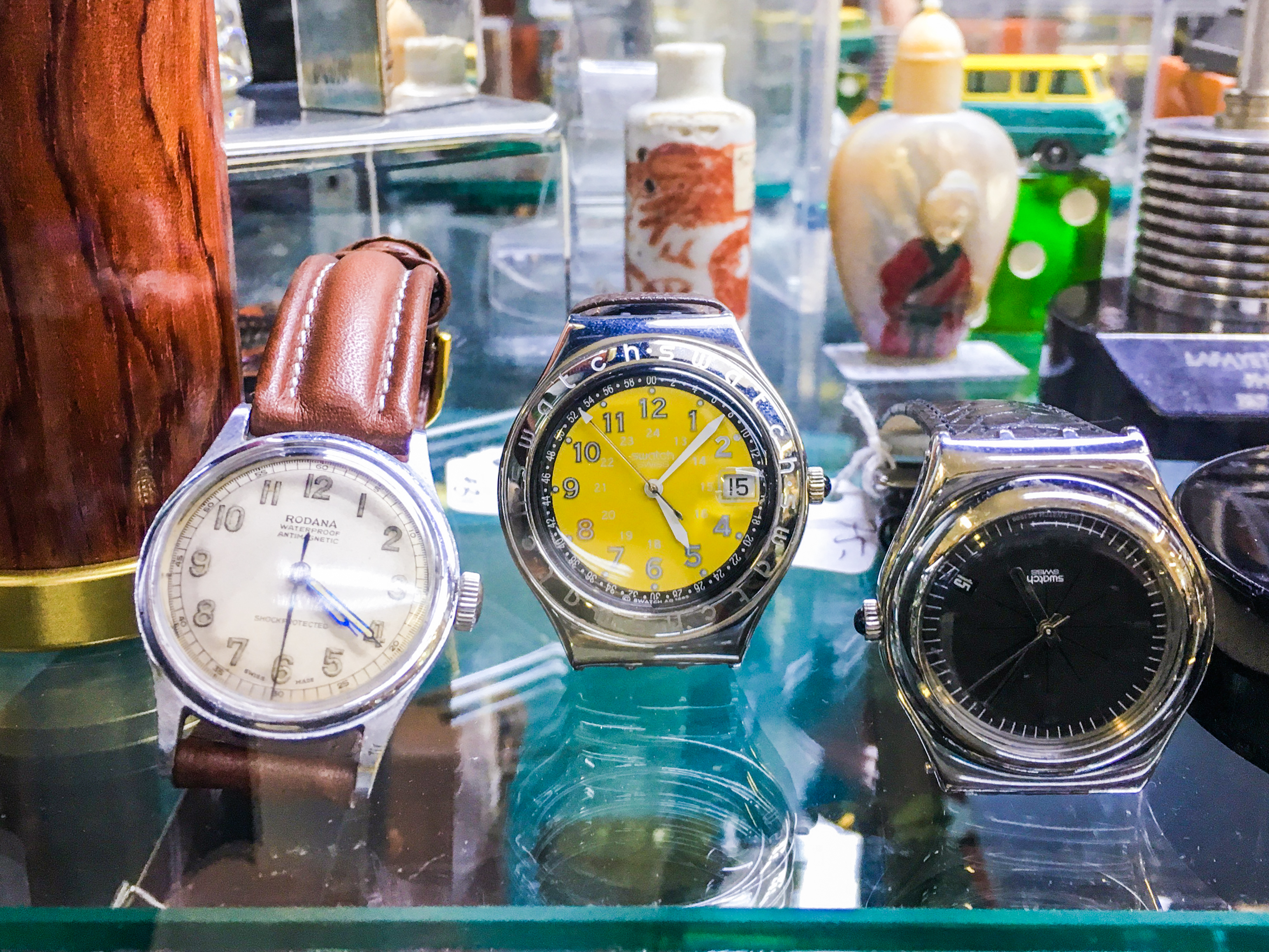 watches at stuff vintage, my favorite place to go vintage shopping in san franciscos mission district