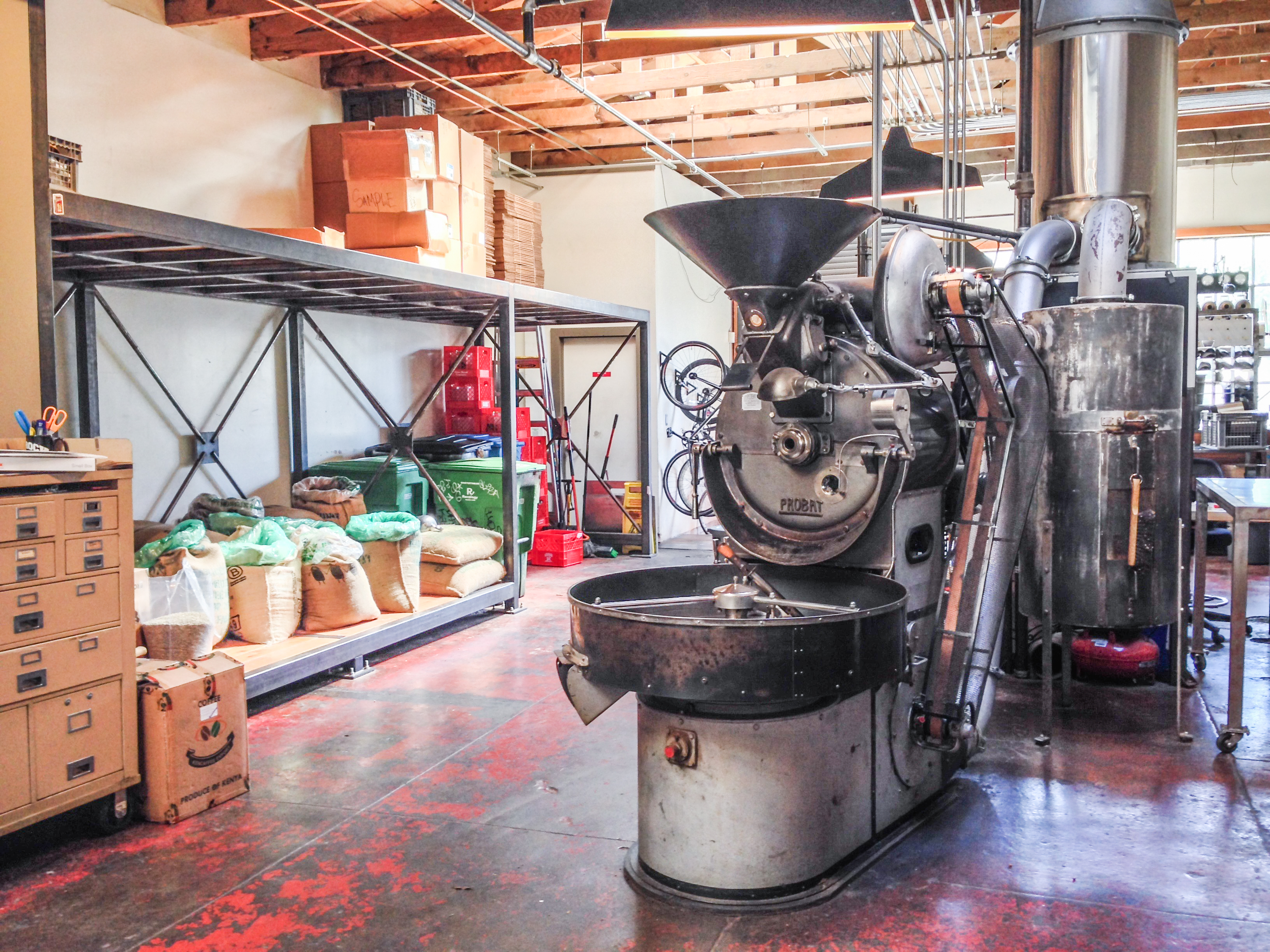 four barrel coffee roasts their own beans in the mission district san francisco- always a good sign