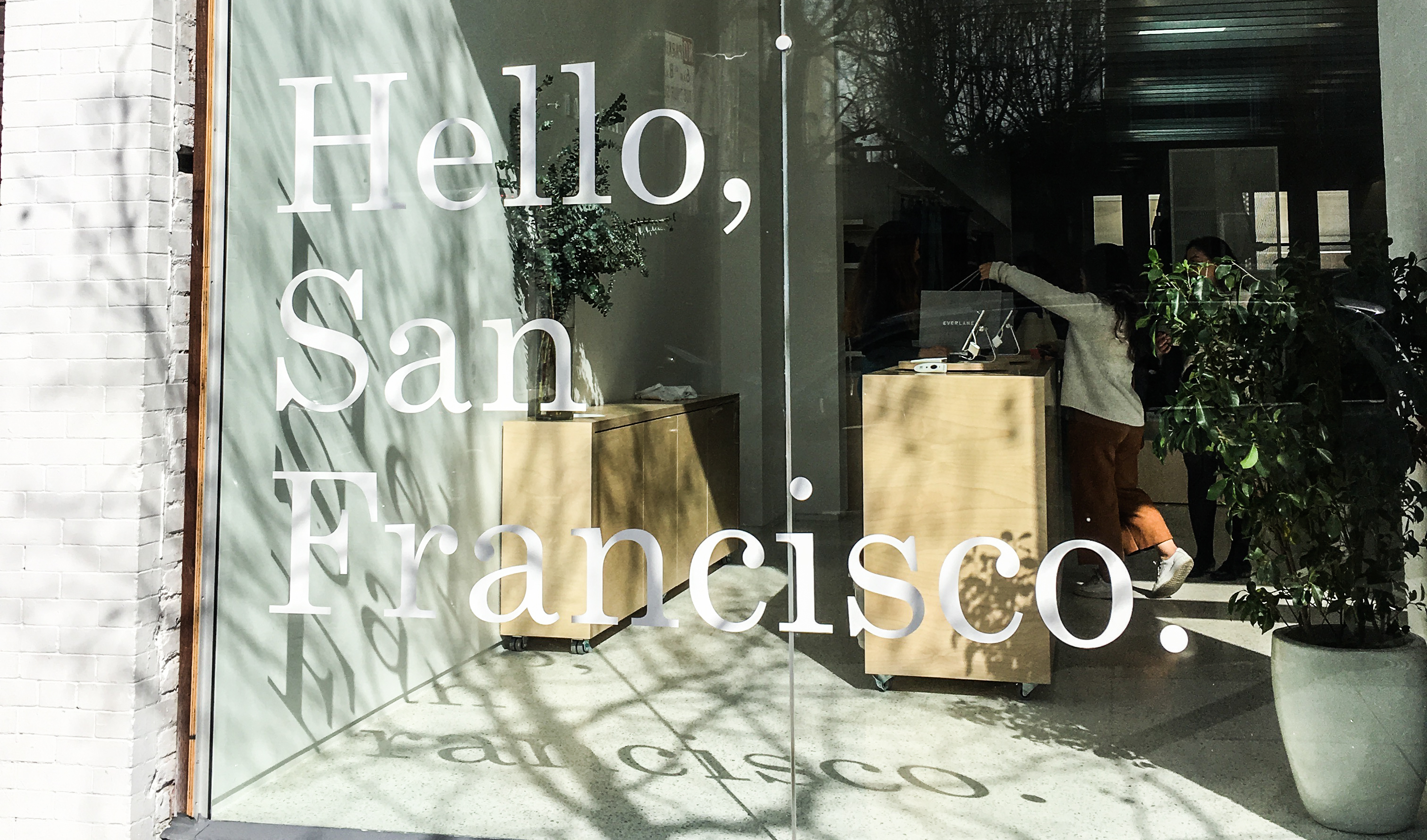 one of only a couple brick and mortar stores, everlane has a shop in san francisco's mission district